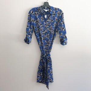 dvf prita silk dress twinkle cobalt